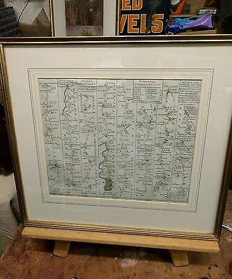 Antique map by John Ogilby. London to Bristol