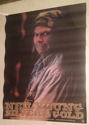 NEIL YOUNG Silver & Gold ORIGINAL 2000 PROMO POSTER