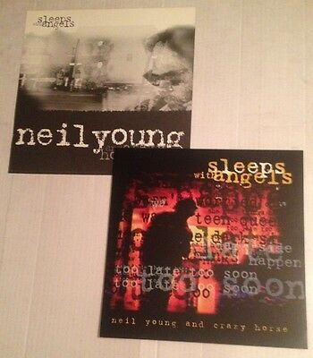 NEIL YOUNG Sleeps with Angels (2) Original 1994 Promo Poster Photo Flats