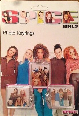 SPICE GIRLS Official Merchandise - 3 Photo Keyrings - Sealed 1997
