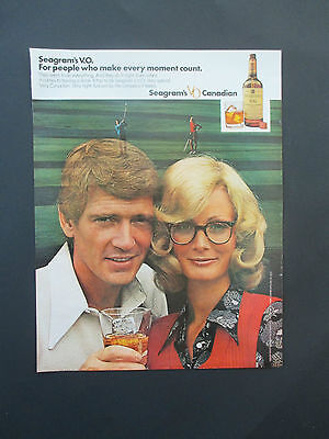 """Vintage 1972 Seagram's VO Canadian Whisky Print Ad, 13.125"""" X 10.25"""""""