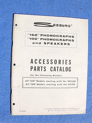Seeburg SPS160 SPS2 STD160 STD2 STD3 STD4 Accessories Parts Catalog # 81-457044