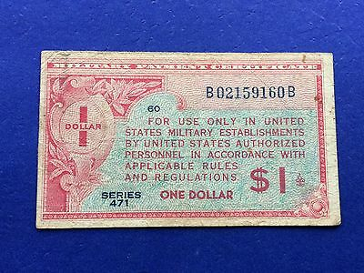 **SHARP** $1 (Series 471) Military Payment Certificate MPC
