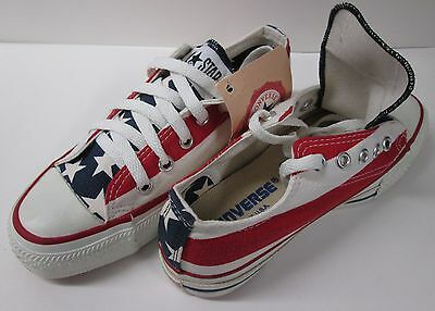 Vintage USA Made Youth Converse Stars & Bars All Star Low Shoes (IRREGULAR)