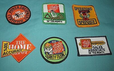 Lot Of 6 New = Patch / Badge = Home Depot Embroidered