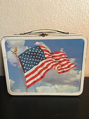 Flag Metal Lunchbox Made By Ohio Art