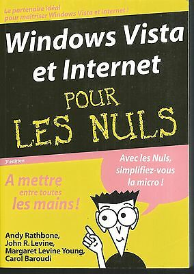 Windows Vista et internet pour les nuls.Andy RATHBONE.  Z002