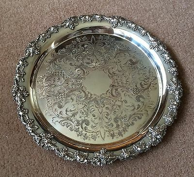 Beautiful Antique/vintage Silver Plated Wine Tray Walker & Hall, Classic Piece!