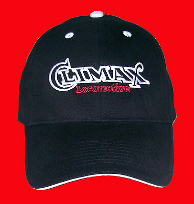Climax Locomotive Embroidered Railroad Cap Hat #40-4400BWS