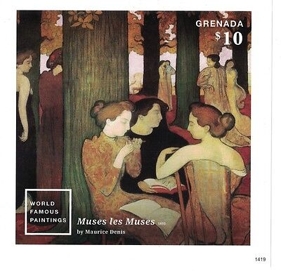 Grenada - Famous Paintings, Muses les Muses by Maurice Denis, 2015 - S/S MNH