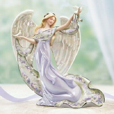 Inspiration of Peace Angel Figurine - Lena Liu Bradford Exchange