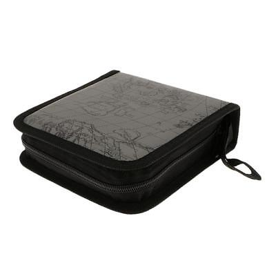 40 Disc CD VCD DVD Blu-Ray Storage Bag Wallet Holder Case Box - Grey