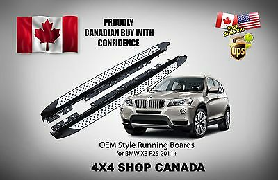 2011 and up OEM STYLE BMW X3 F25 Running Boards  Nerf Bar Side Step Bar