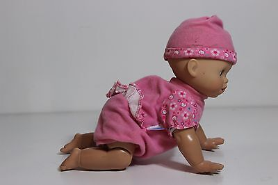 """Fisher Price My Little Mommy Doll 12"""" crawling sounds interactive doll"""