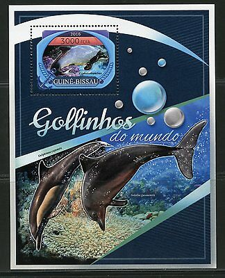 Guinea Bissau  2017 Dolphins  Of The World  Souvenir Sheet Mint
