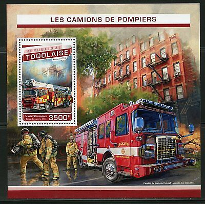 Togo 2017 Fire Engines   Souvenir Sheet Mint Nh