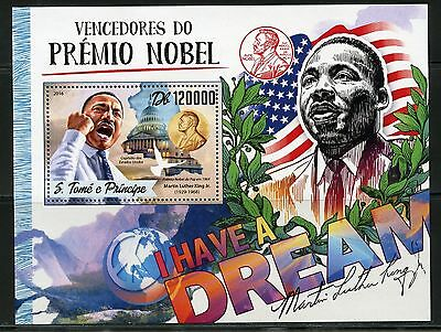 SAO TOME 2017  NOBEL PRIZE WINNERS FOR PEACE MARTIN LUTHER KING, Jr S/S MINT NH