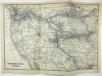 Original 1911 Map of The Northern Pacific Railway
