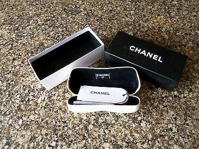 authentic CHANEL Glasses Case  new in the box. pearl white
