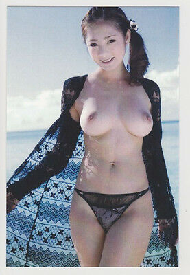Postcard Nude Sexy Stunning Asian Girl Topless Breast Babe Photo Post Card 7087