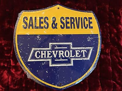 Chevrolet Sales & Service metal sign Free Shipping