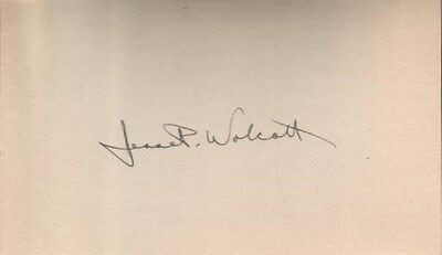 Jesse Wolcott Autographed Index Card Michigan Former Politician / Soldier D.69