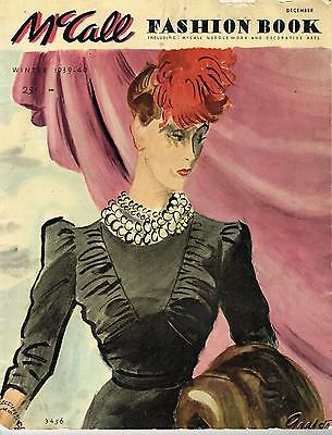 1930s Vintage McCall Fashion Book Winter 1939 Pattern Catalog Ebook Copy on CD