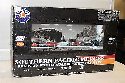 Lionel O-Gauge O-27 Southern Pacific Merger Set With Rail Sounds 6-30167
