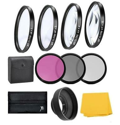 55mm Close up & Filter Kit For Nikon D5600 D3500 D3400 w/ AF-P DX 18-55mm Lens