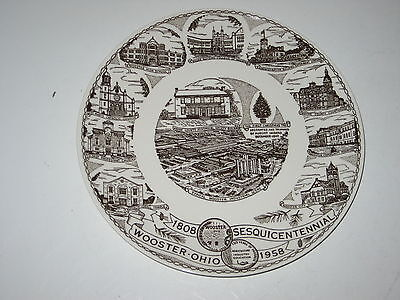 Kettlesprings Kilns Wooster Ohio Souvenir Picture Plate Alliance Ohio Pottery