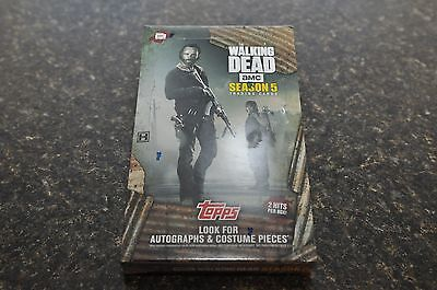 Walking Dead Season 5 TOPPS hobby box trading cards BRAND NEW and SEALED
