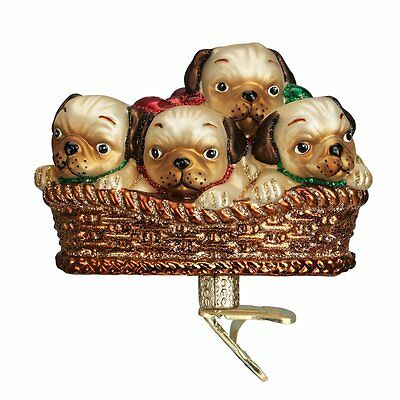 Pile of Puggles Old World Christmas Tree Ornament NWT - 12434