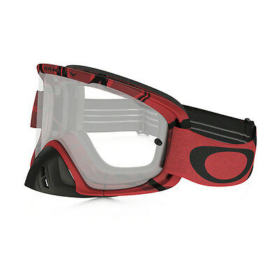 2016 Oakley O2 MX Goggles Intimidator Red Black Clear Motocross offroad enduro t