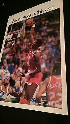 vtg NBA Houston Rockets olajuwon sports illustrated si starline costacos poster