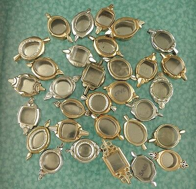 Ladies watch case lot good crystals 50 total 1950s + 60s