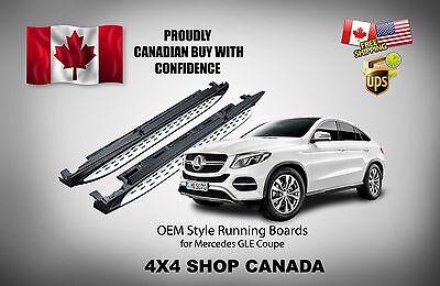 2016 and up  OE STYLE MERCEDES GLE Coupe RUNNING BOARDS SIDE STEP BARS NERF BAR