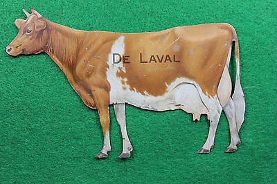De Laval Cream Separator Co. Advertising Tin COW - ( Pristine Condition )