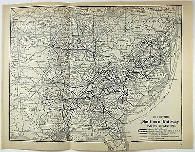Original 1911 Map of The Southern Railway