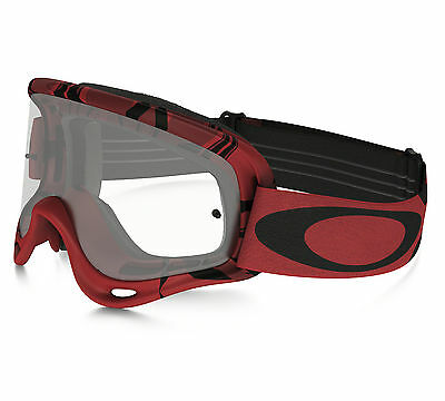 Oakley O-Frame MX Goggles Intimidator Red Clear Lens Motocross Offroad Enduro Tr
