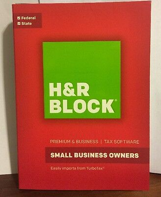 *NEW*H&R BLOCK Tax Software Premium & Business 2016 FACTORY SEALED/FREE SHIPPING