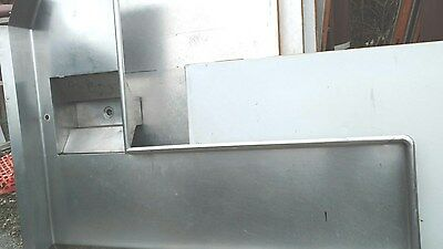 "Commercial Stainless Dishwasher Soil Table ""l"" Shaped 8 Ft (D-16)"