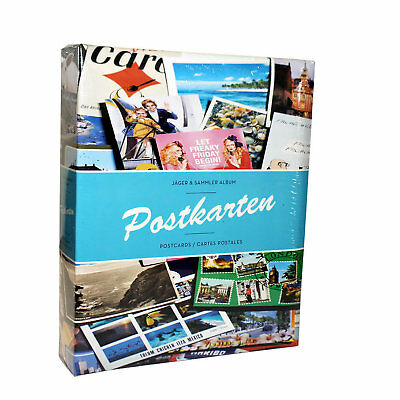 Lighthouse Postcard Album for up to 200 Postcards with 50 Bound Clear Sheets