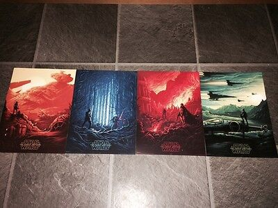 Star Wars The Force Awakens Imax Posters 1-4 100% Genuine