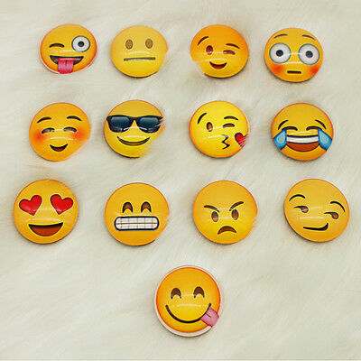 10pcs Expression Glass Emoji Fridge Magnet Decor Whiteboard Note Message Gifts