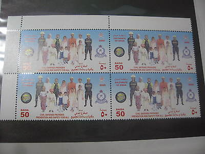 Timbre Neuf** Oman Sultanate Of Oman 2005 4 Tp Bdf Defense Civil Pompier
