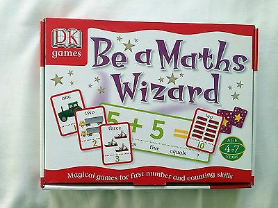 Be A Maths Wizard By Dk Games - Age 4-7 Years - 9 Different Games - Mint Cond