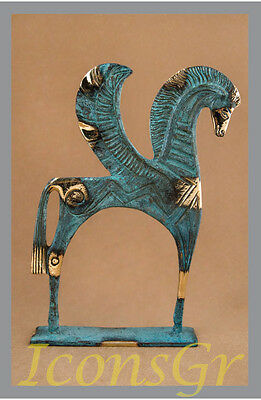 Statue Replica of Pegasus Flying Horse Bronze  Ancient Greek Museum Collectable