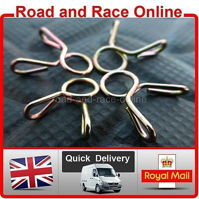 4 Motorcycle Carb Petrol Breather Pipe Fuel Hose Clips Spring Wire Type 5mm I/D