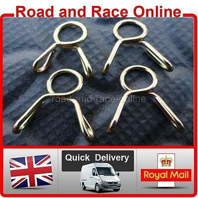 Carburettor / Carb Overflow / Vent Pipe Clips Spring Wire Type 5mm I/D Pack Of 4