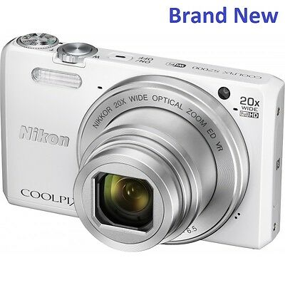 Brand New Nikon Coolpix S7000 16MP- 20x Digital Camera - White
